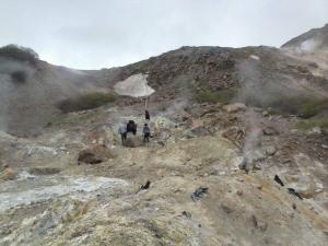 Fumarolas geotérmicas Nevados de Chillán